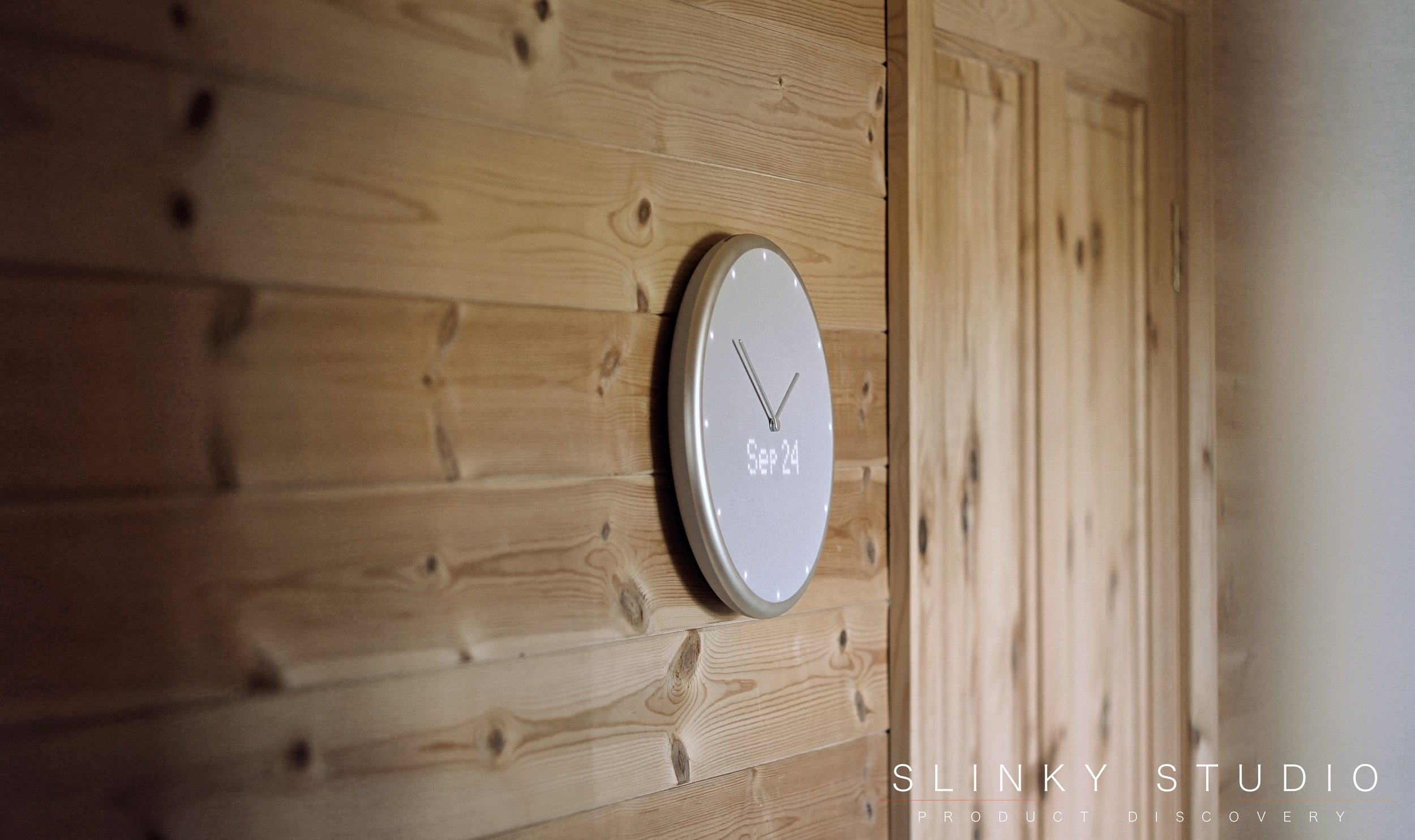 Glance Clock Hanging on Wooden Wall.jpg