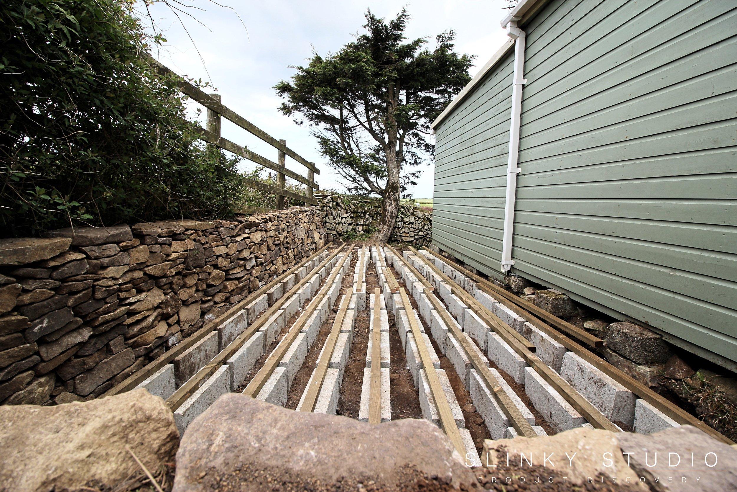 Havwoods Trekker Composite Decking Concrete Block Base Laid