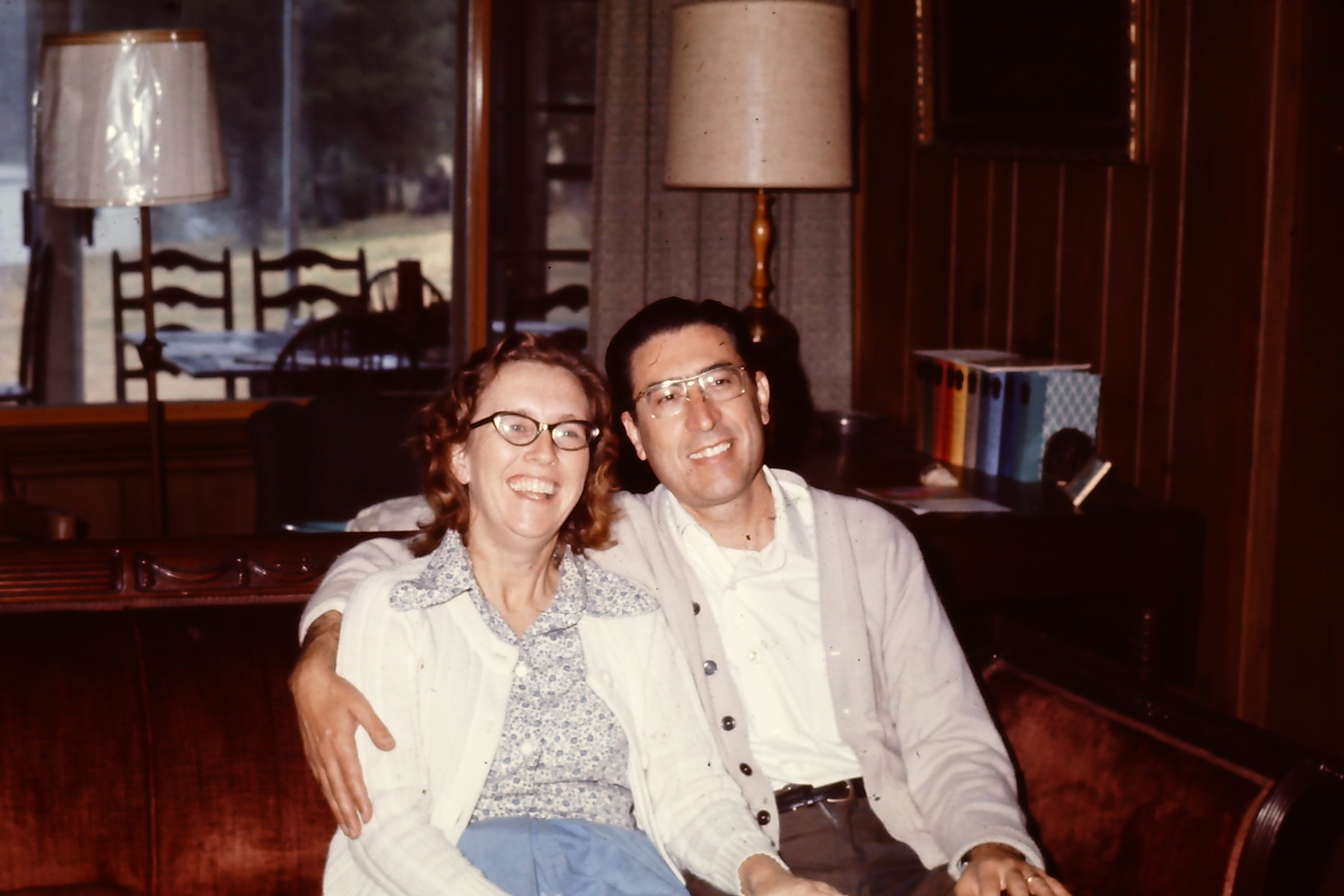 My grandmother and grandfather who were missionaries to Spain, are pictured here visiting in my great-grandfather's house.