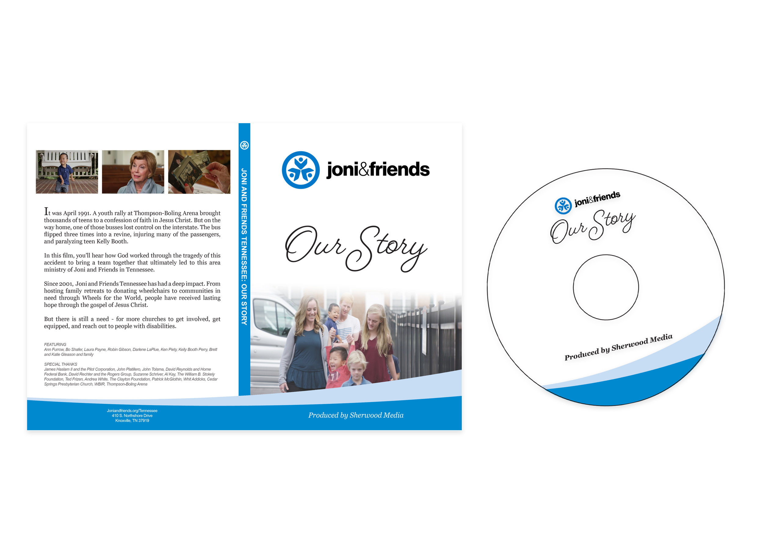 DVD Case and Label artwork we created for project delivery.