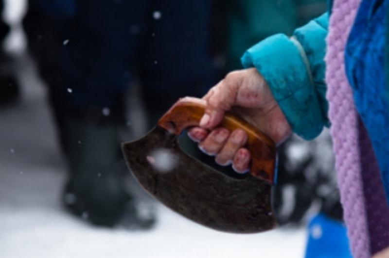 ''Toonik Time Seal Skinning Champion' by Taymin Kane, Iqaluit