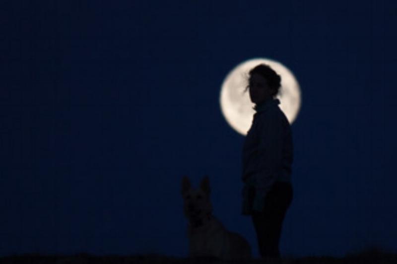 'Summer Moon on Baffin Island' by Taymin Kane, Iqaluit