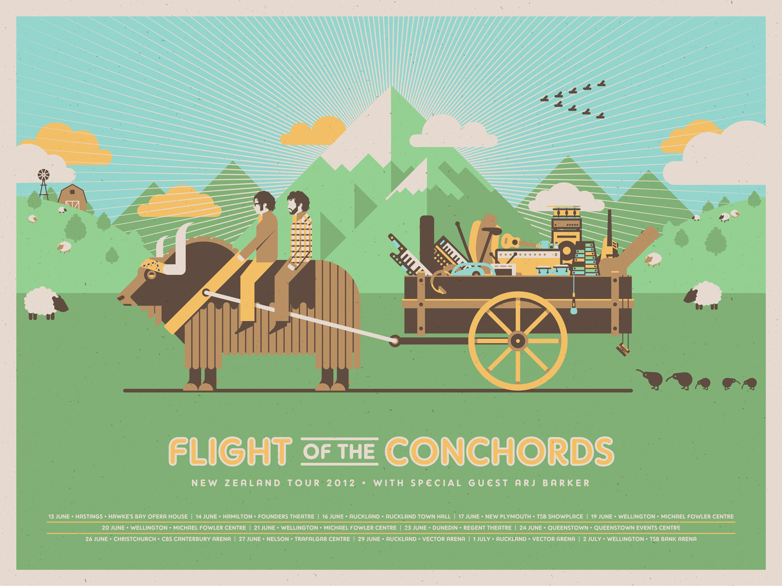 Flight of the Conchords Poster by DKNG