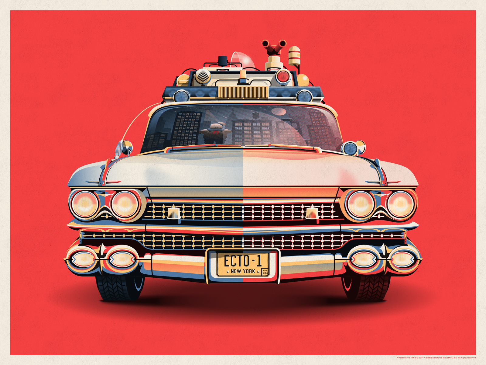 Ecto-1 Poster by DKNG
