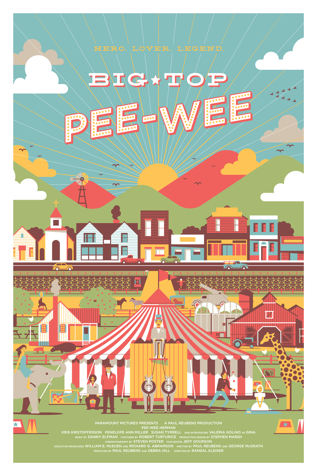 Big Top Pee-Wee Poster by DKNG