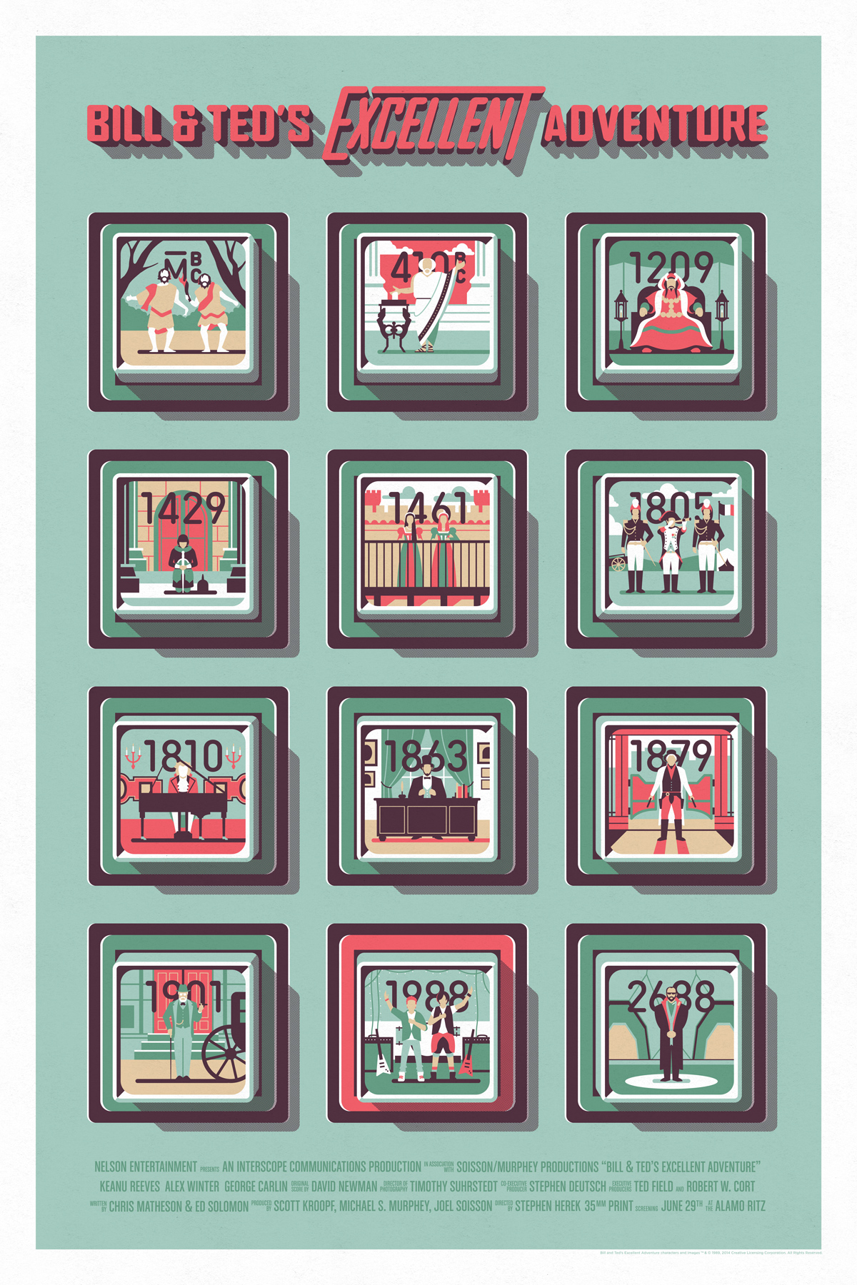 Bill & Ted's Excellent Adventure Poster by DKNG