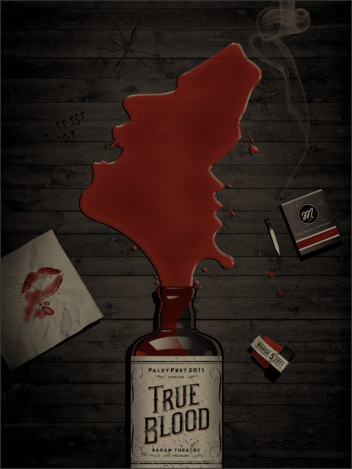 True Blood Poster by DKNG