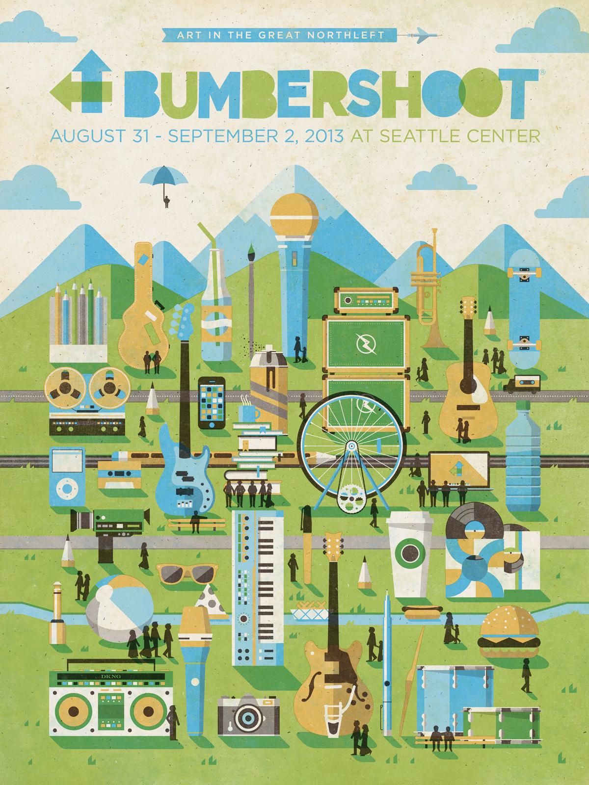 Bumbershoot Festival Branding by DKNG