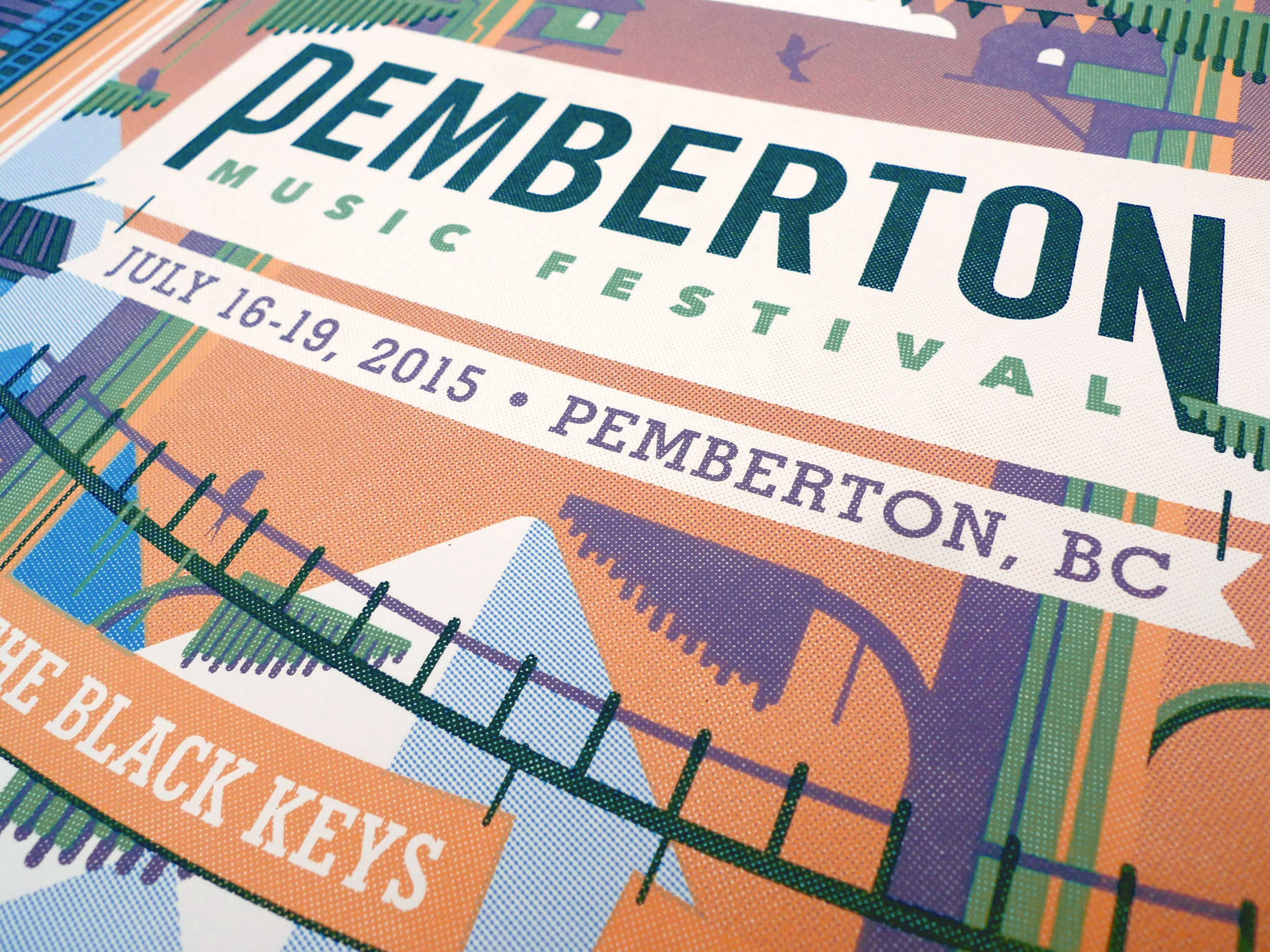 Pemberton Music Festival Poster by DKNG