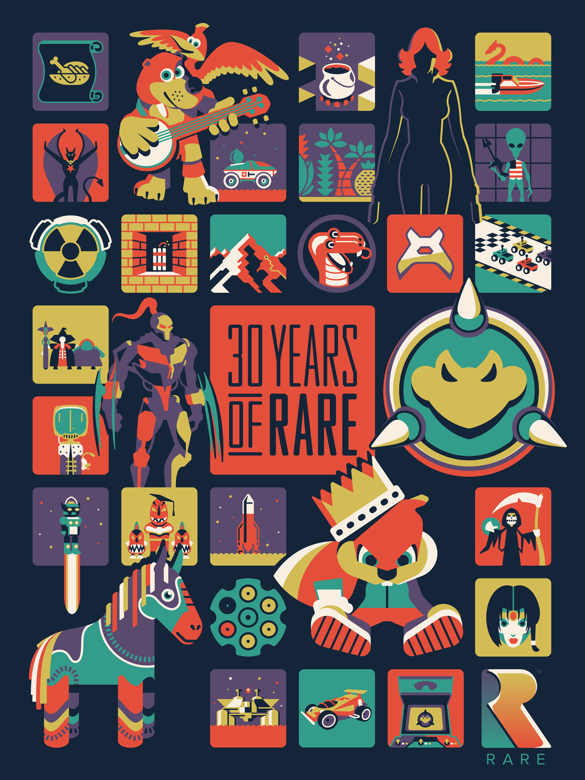 Xbox '30 Years of Rare' Poster by DKNG
