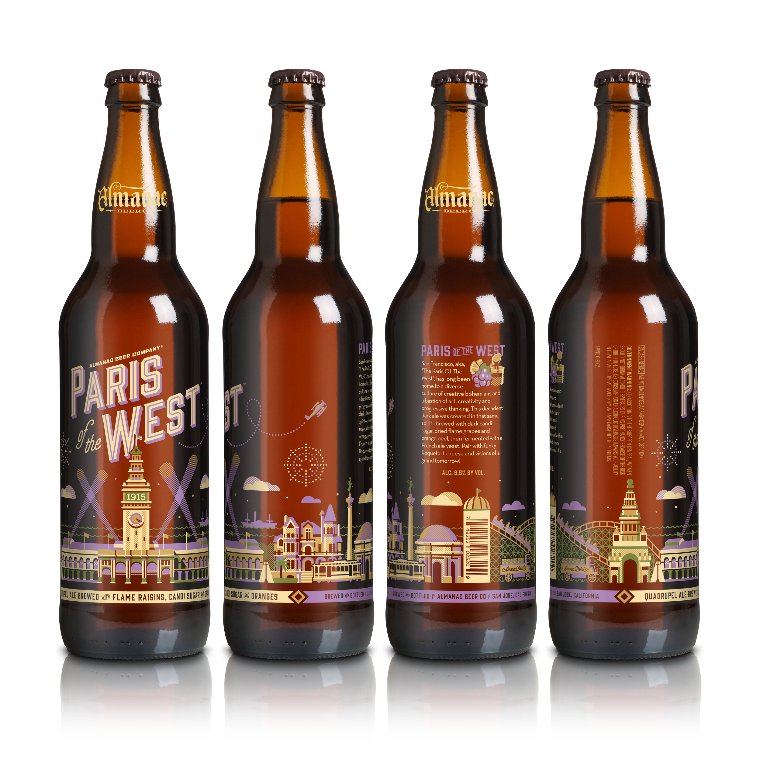Almanac's Paris of the West bottle design by DKNG