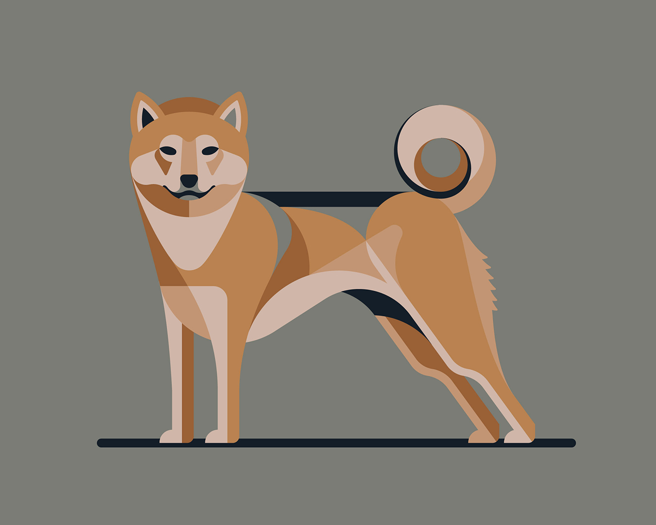 Shiba Inu Illustration by DKNG