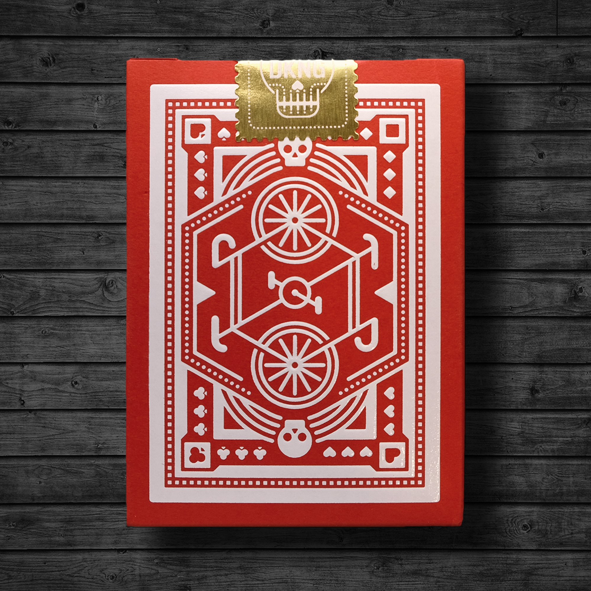 "DKNG ""Red Wheel"" Playing Cards"