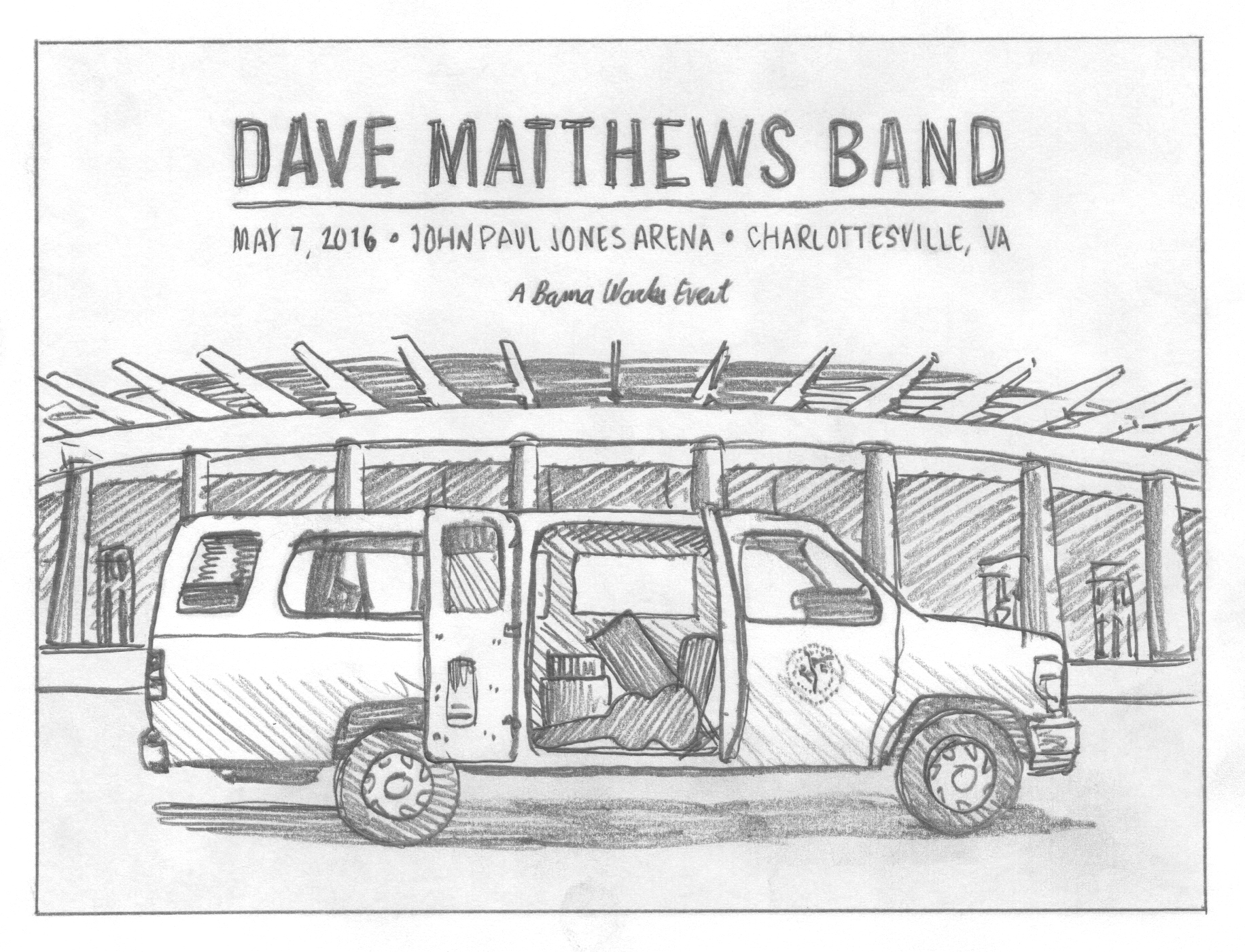 Dave Matthews Band: 25th Anniversary Poster by DKNG