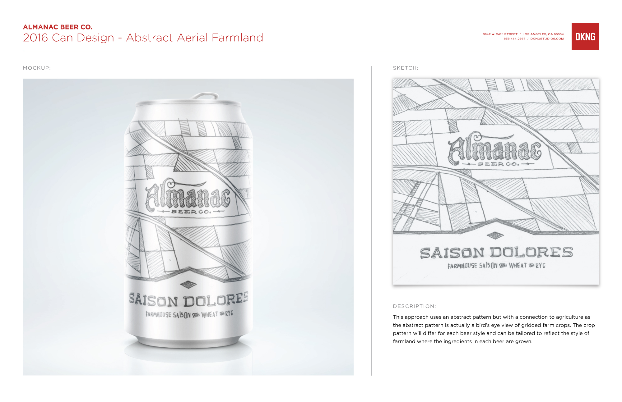 Almanac Beer Co. Can Design by DKNG