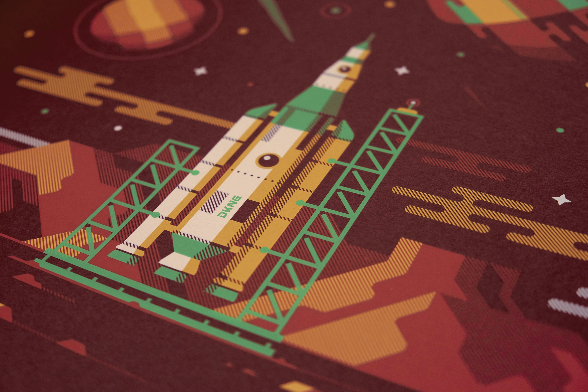 Orion art print by DKNG