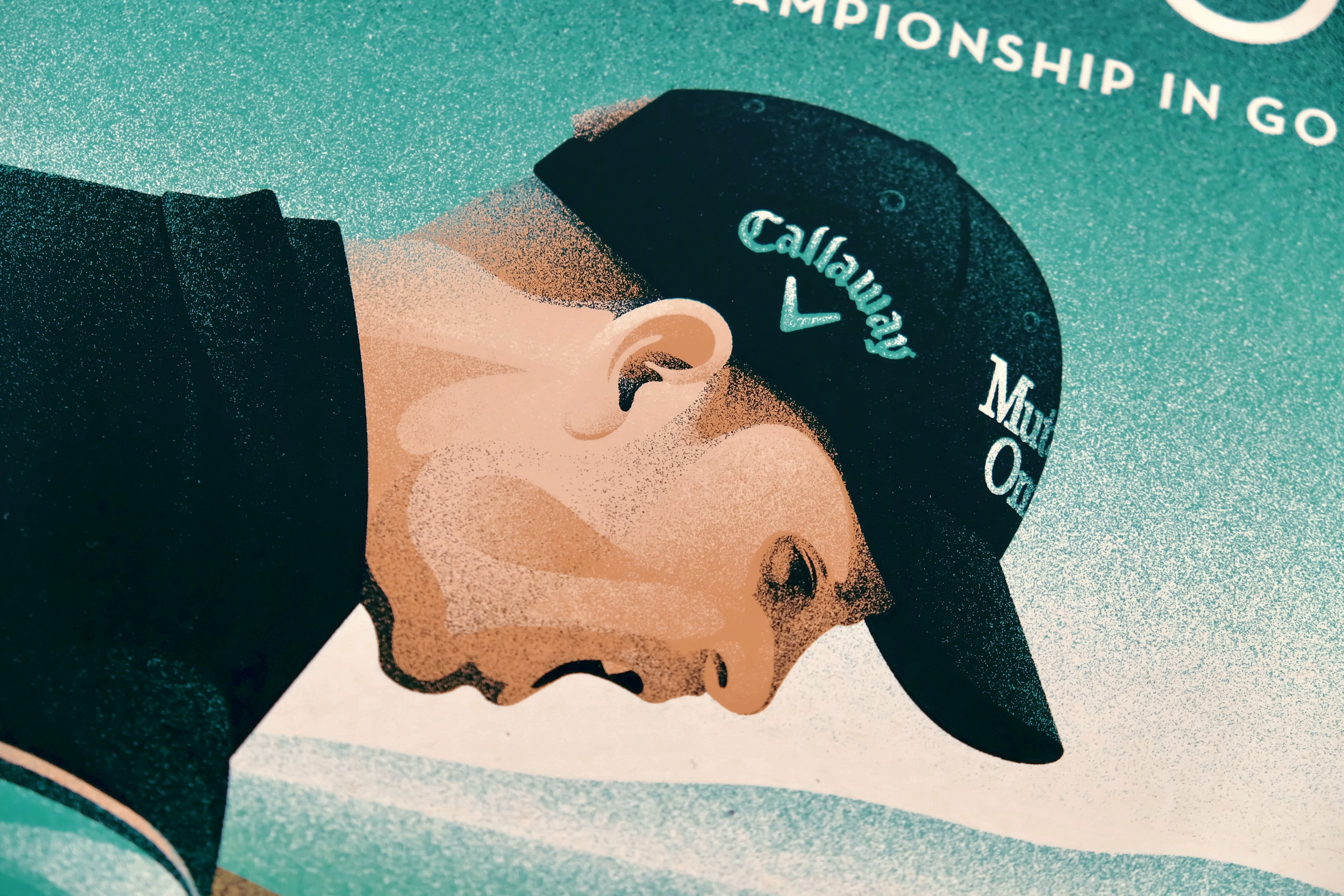 Callaway Open Championship Poster by DKNG