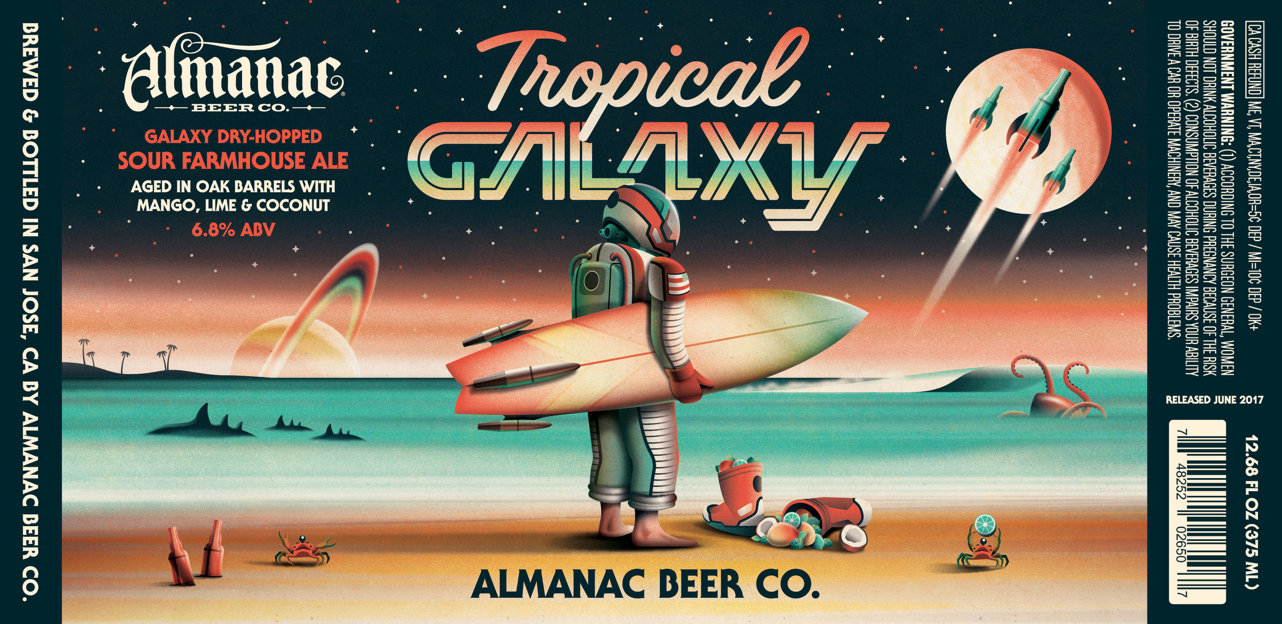 Almanac Beer Co. Tropical Galaxy design by DKNG