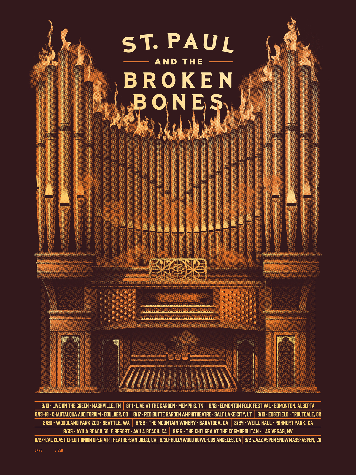 St. Paul & the Broken Bones poster by DKNG