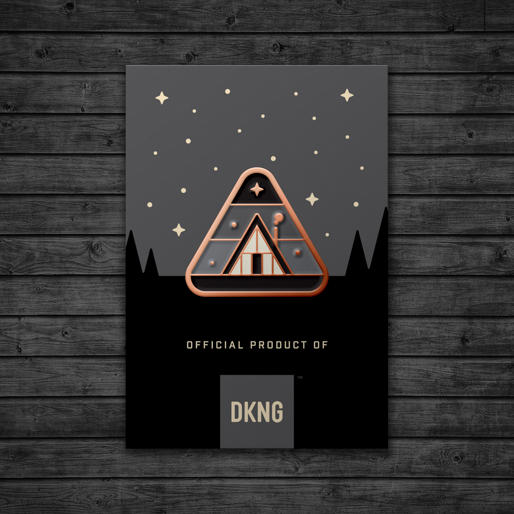 Cabin Enamel Pin by DKNG