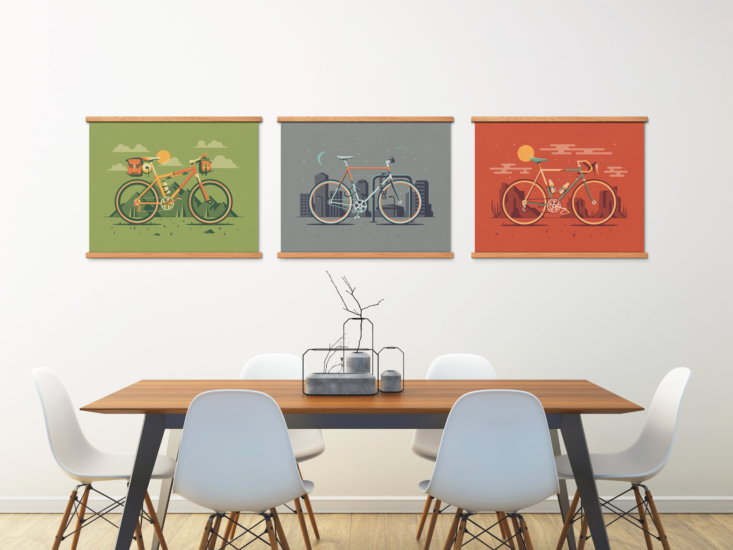 Cyclist Art Print Series by DKNG