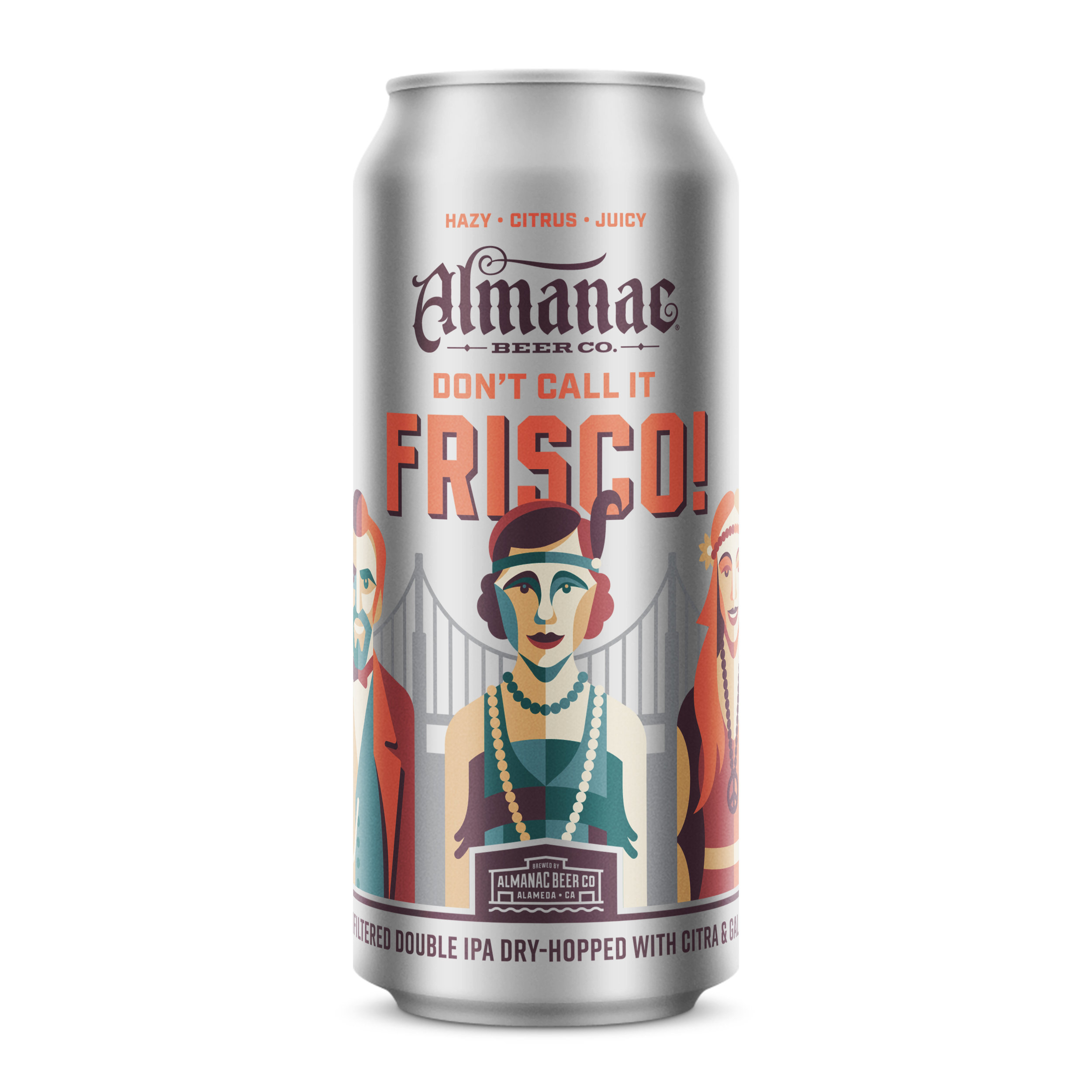 Don't Call It Frisco Double IPA can design by DKNG