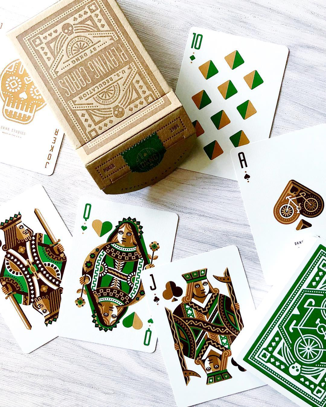 Green Wheel Playing Cards by DKNG