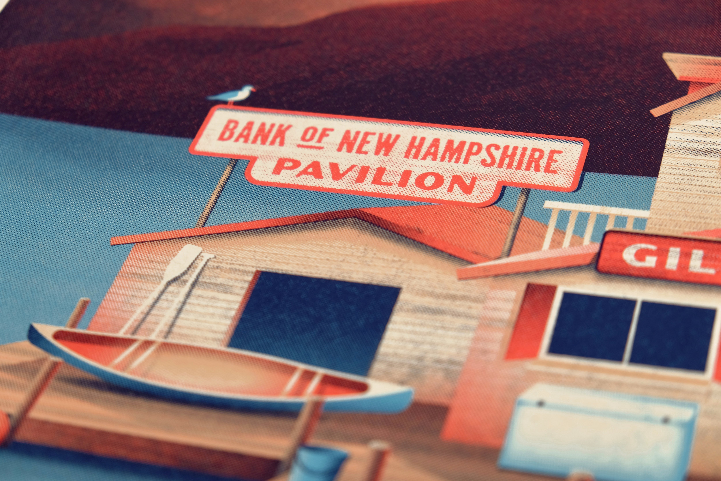 Dave Matthews Band Gilford, NH Poster by DKNG