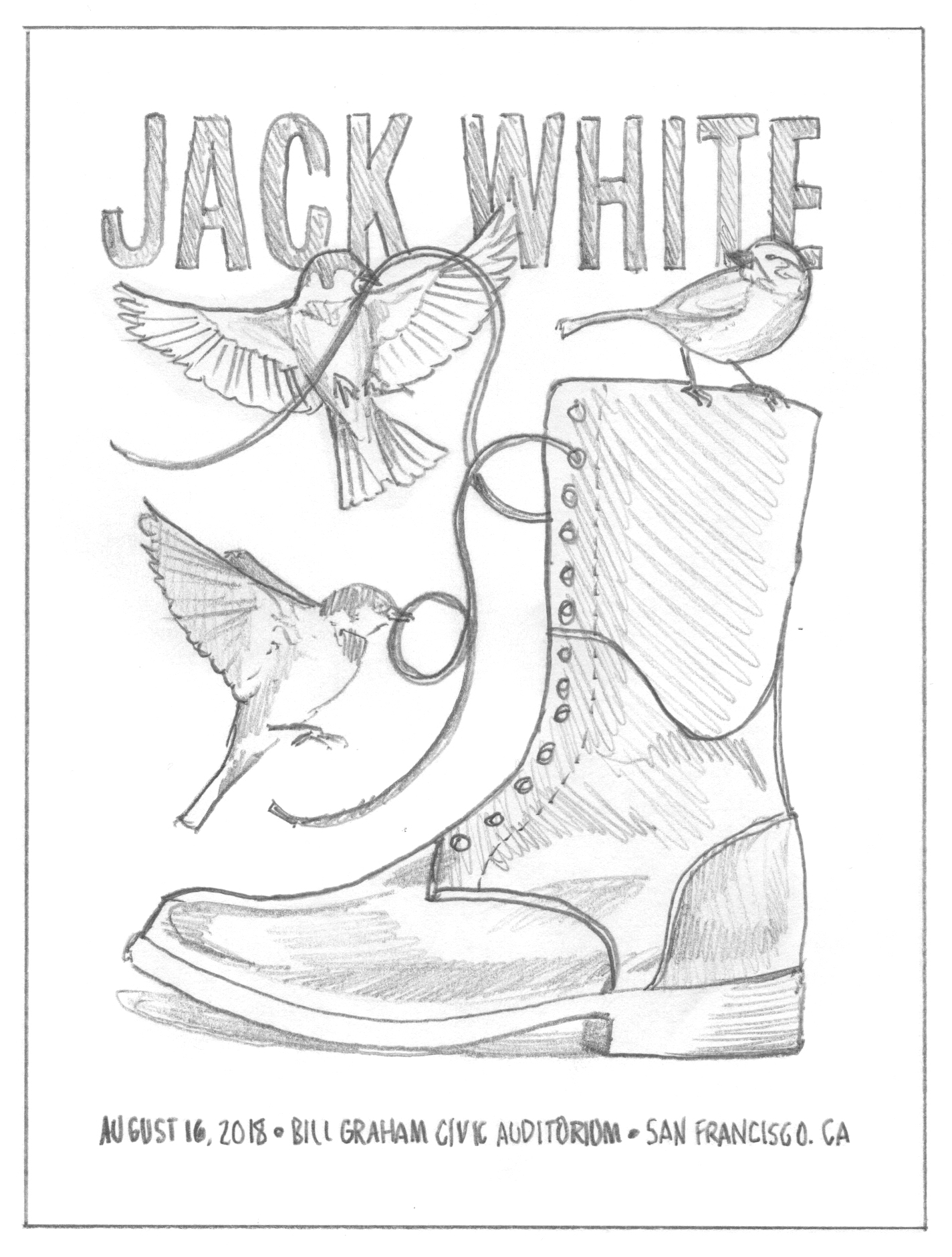 Jack White poster by DKNG