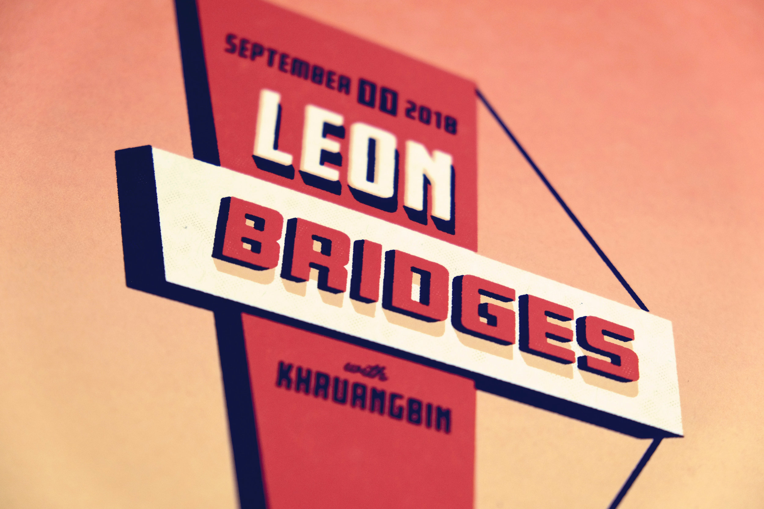 Leon Bridges Poster by DKNG