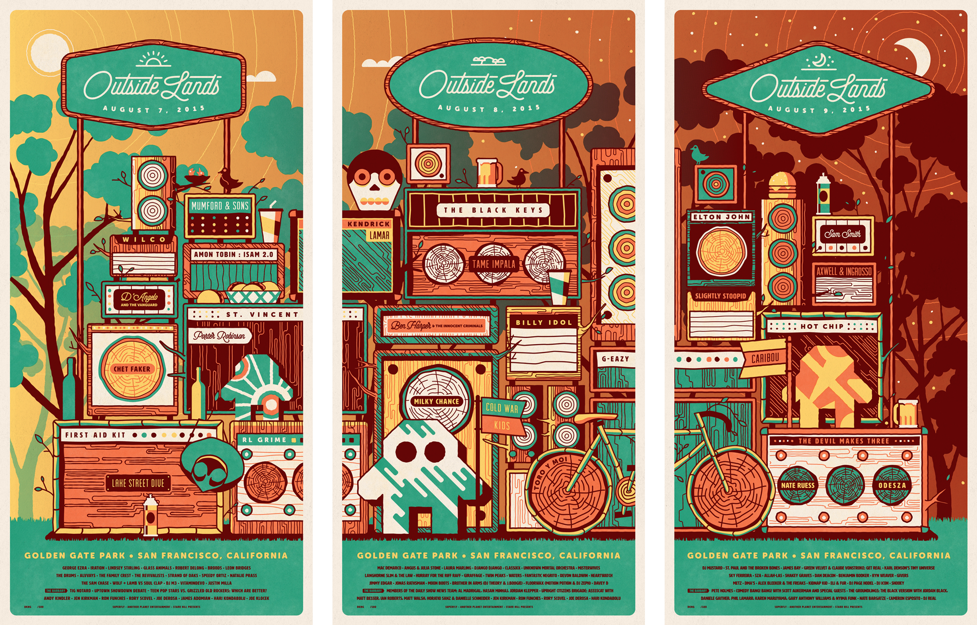 Outside Lands branding by DKNG
