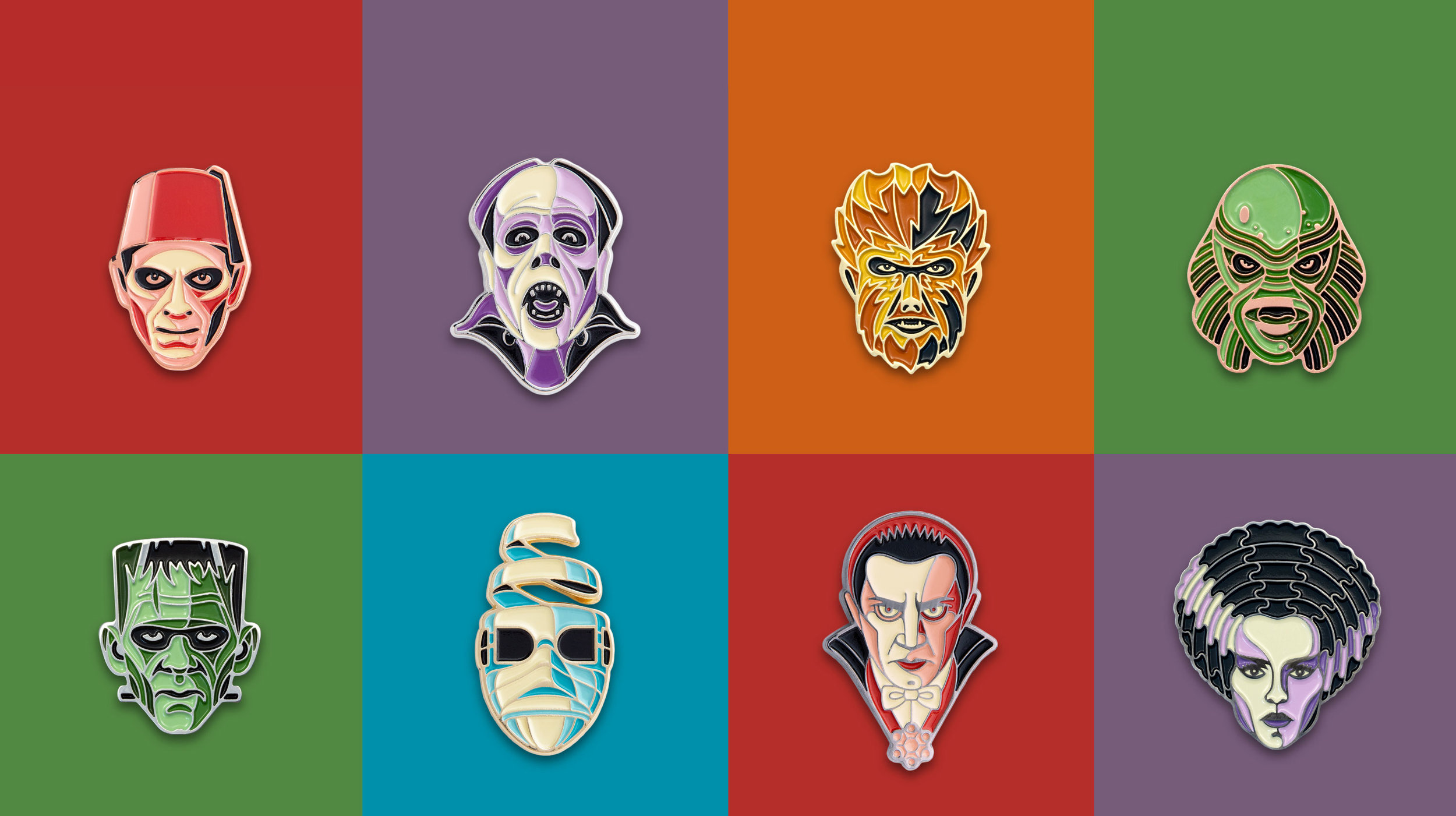 UNIVERSAL MONSTERS ENAMEL PINS   Officially Licensed Enamel Pins. Available Now.   LEARN MORE