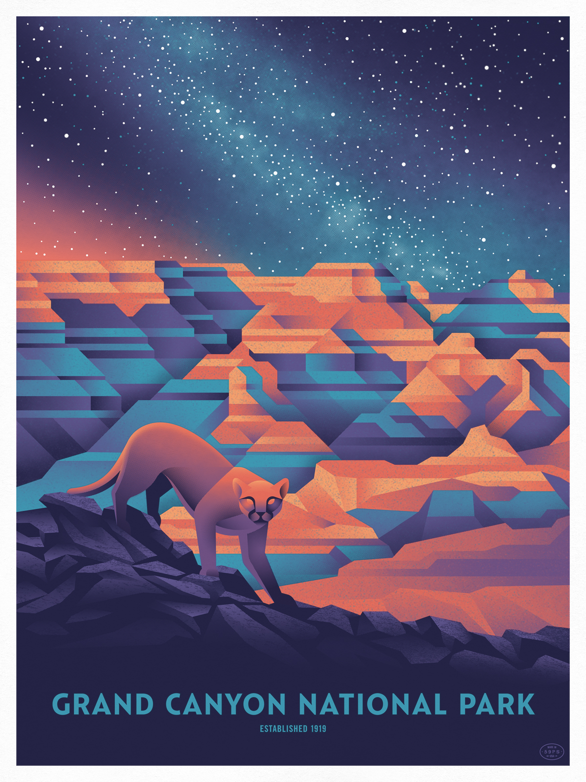 Grand Canyon poster by DKNG