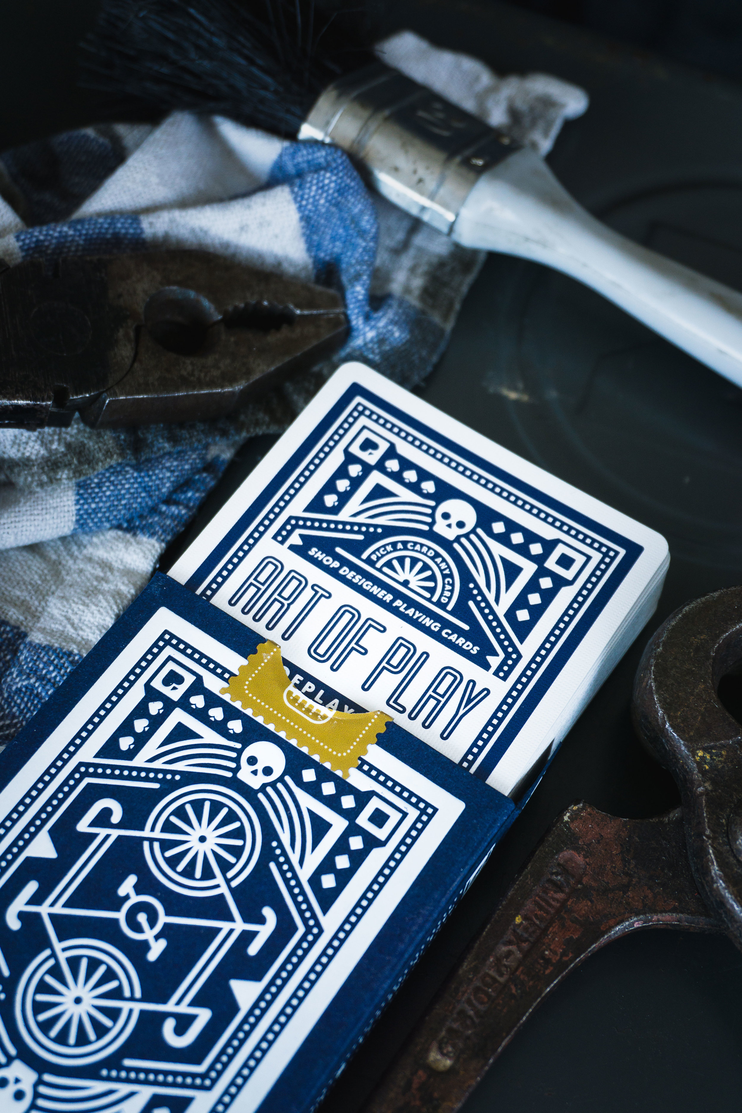 DKNG Blue Wheel Playing Cards photographed by Wonderful Mystical