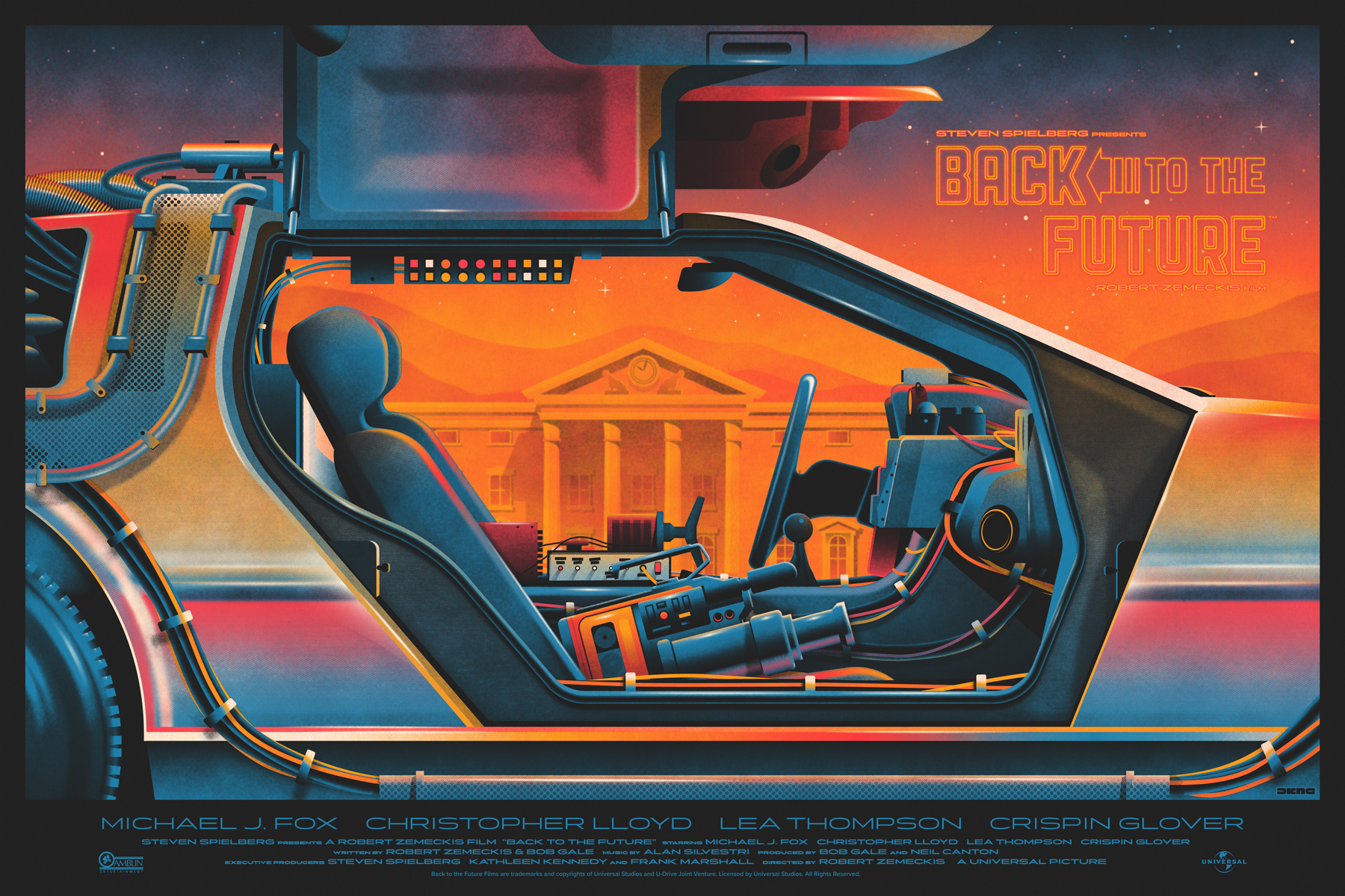 Back to the Future poster by DKNG