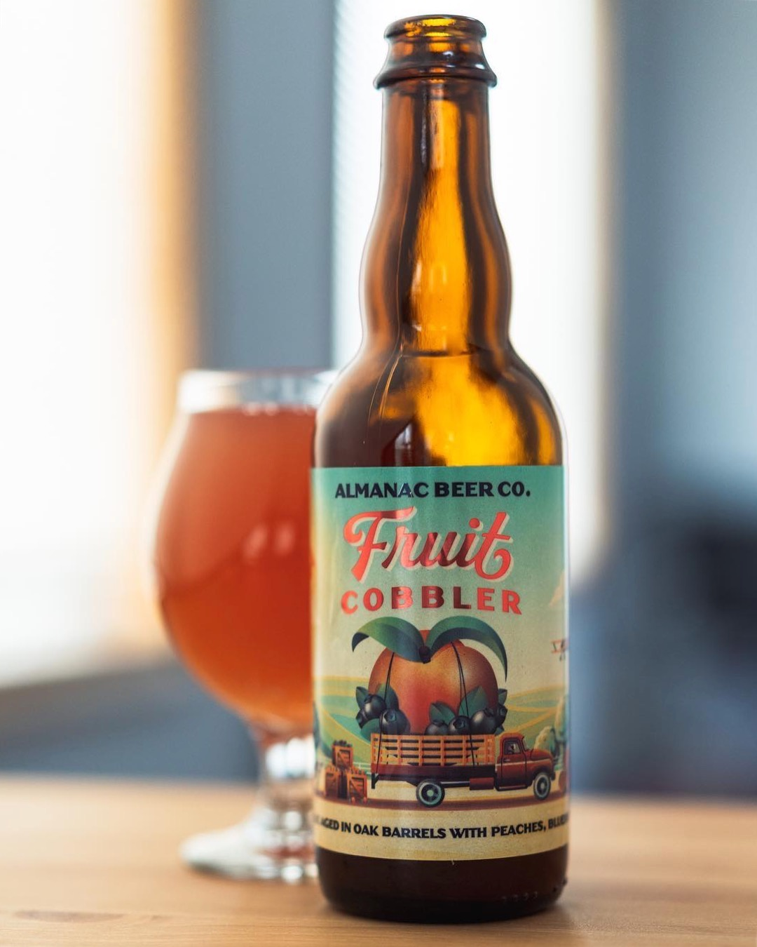 Almanac Beer Co. Fruit Cobbler label by DKNG