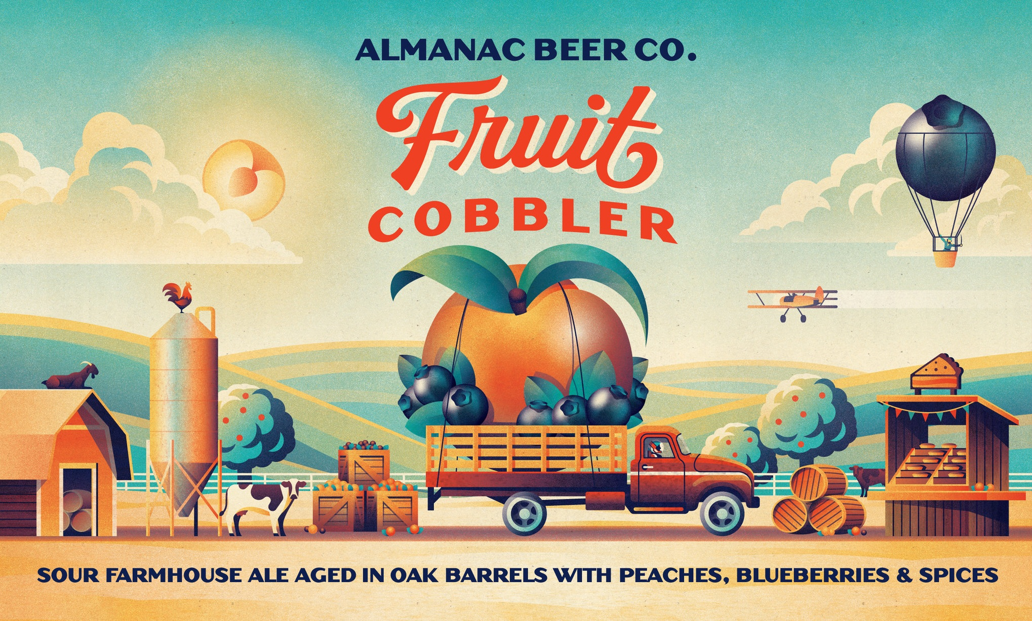 Almanac Beer Co. Fruit Cobbler label by DKNG