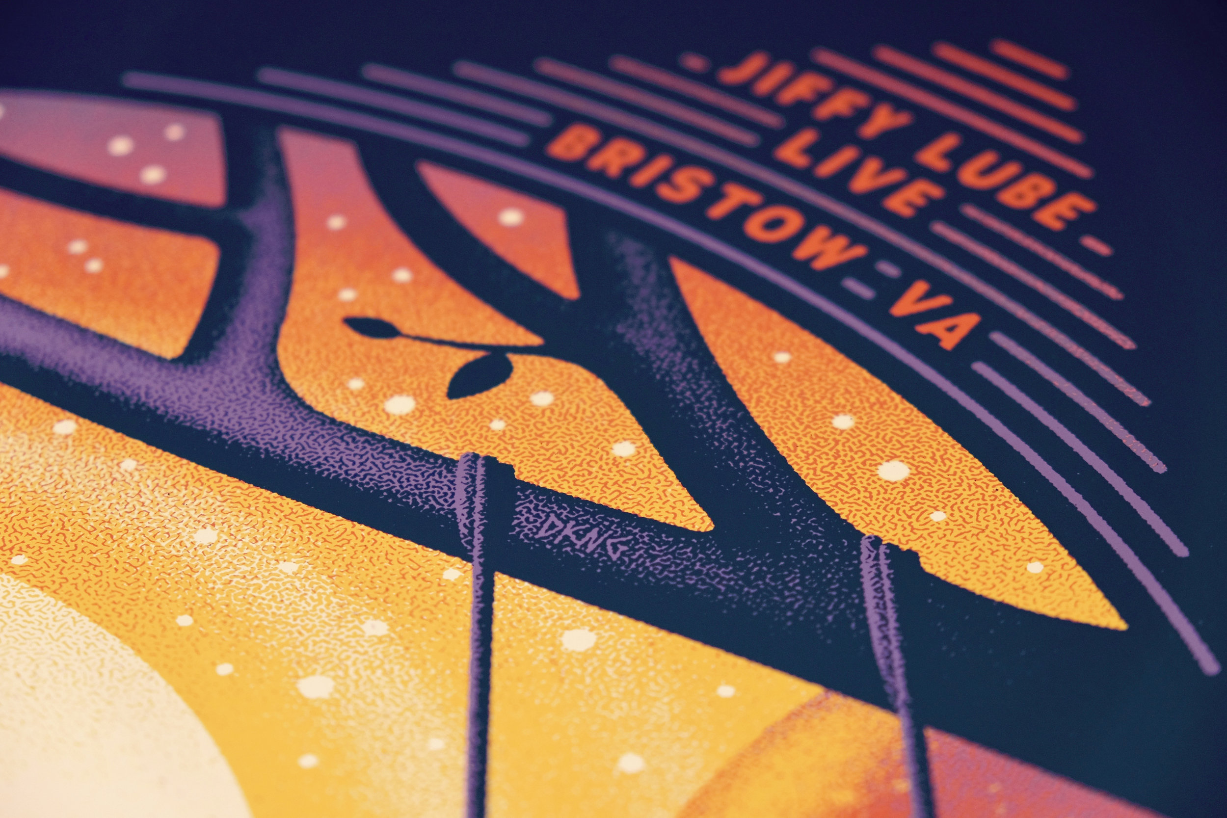 Dave Matthews Band Bristow, VA Poster by DKNG
