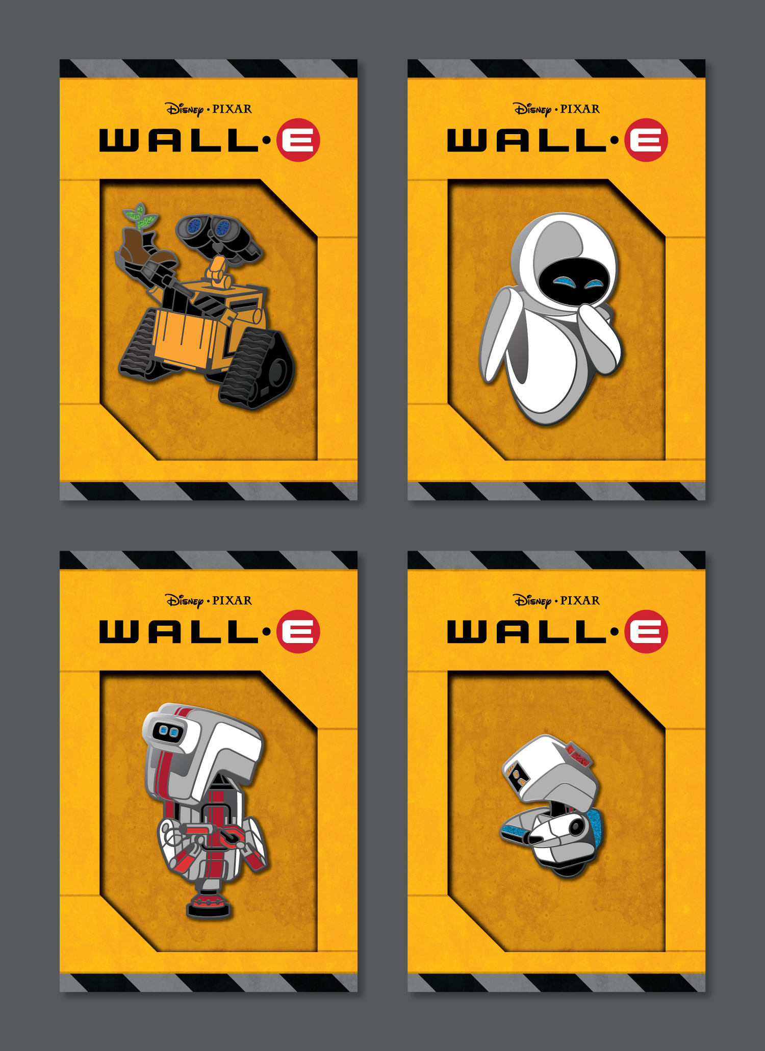WALL-E Enamel Pins by DKNG