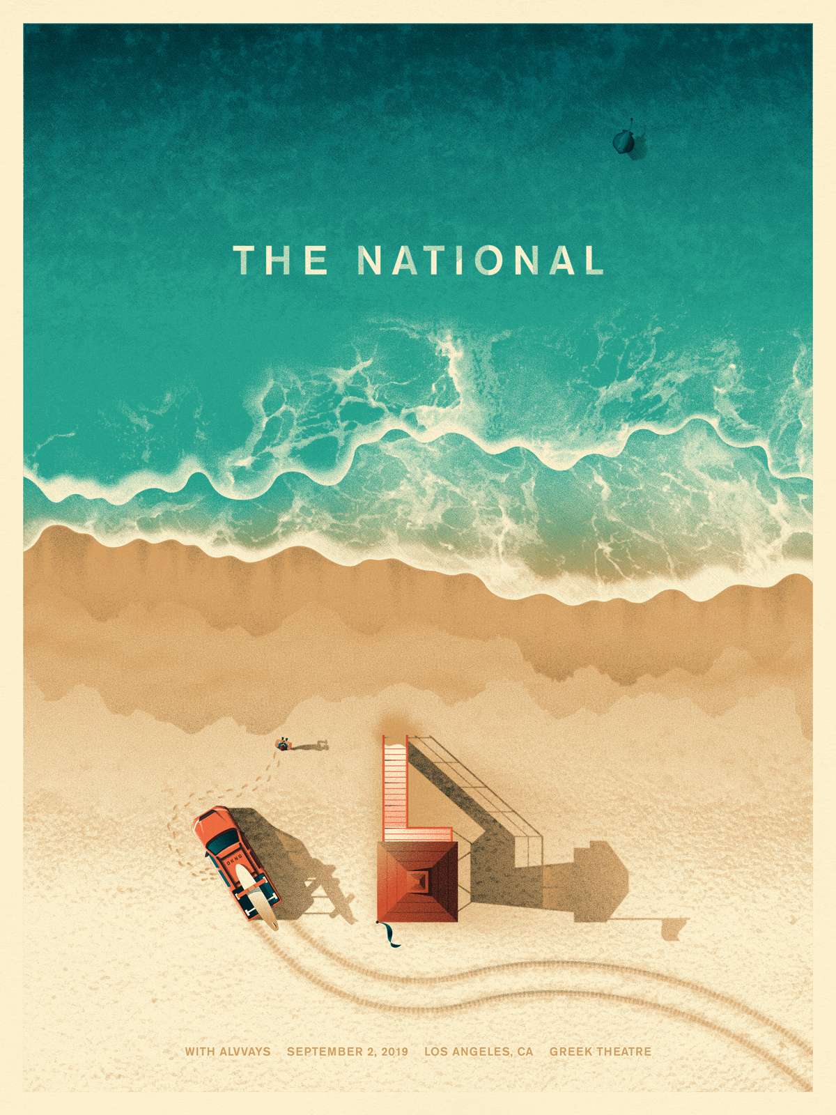 The National Greek Theatre L.A. Poster by DKNG