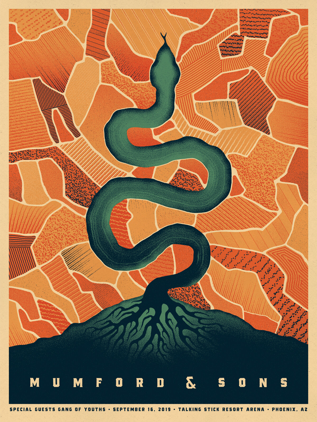 Mumford and Sons Poster by DKNG