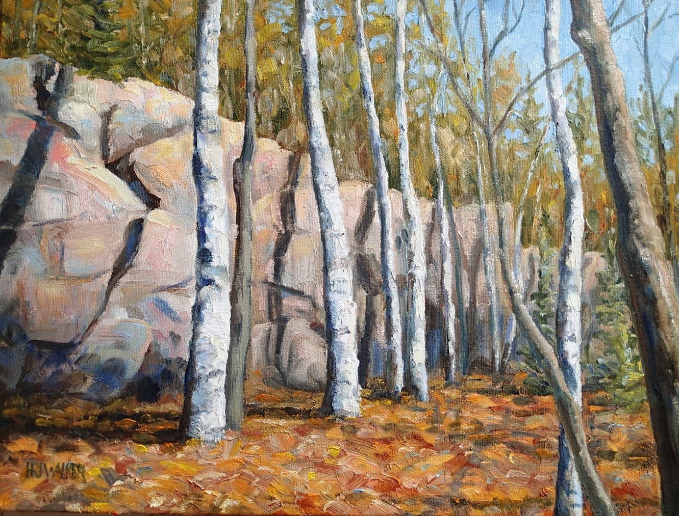 "Birches 12x16""    SOLD"