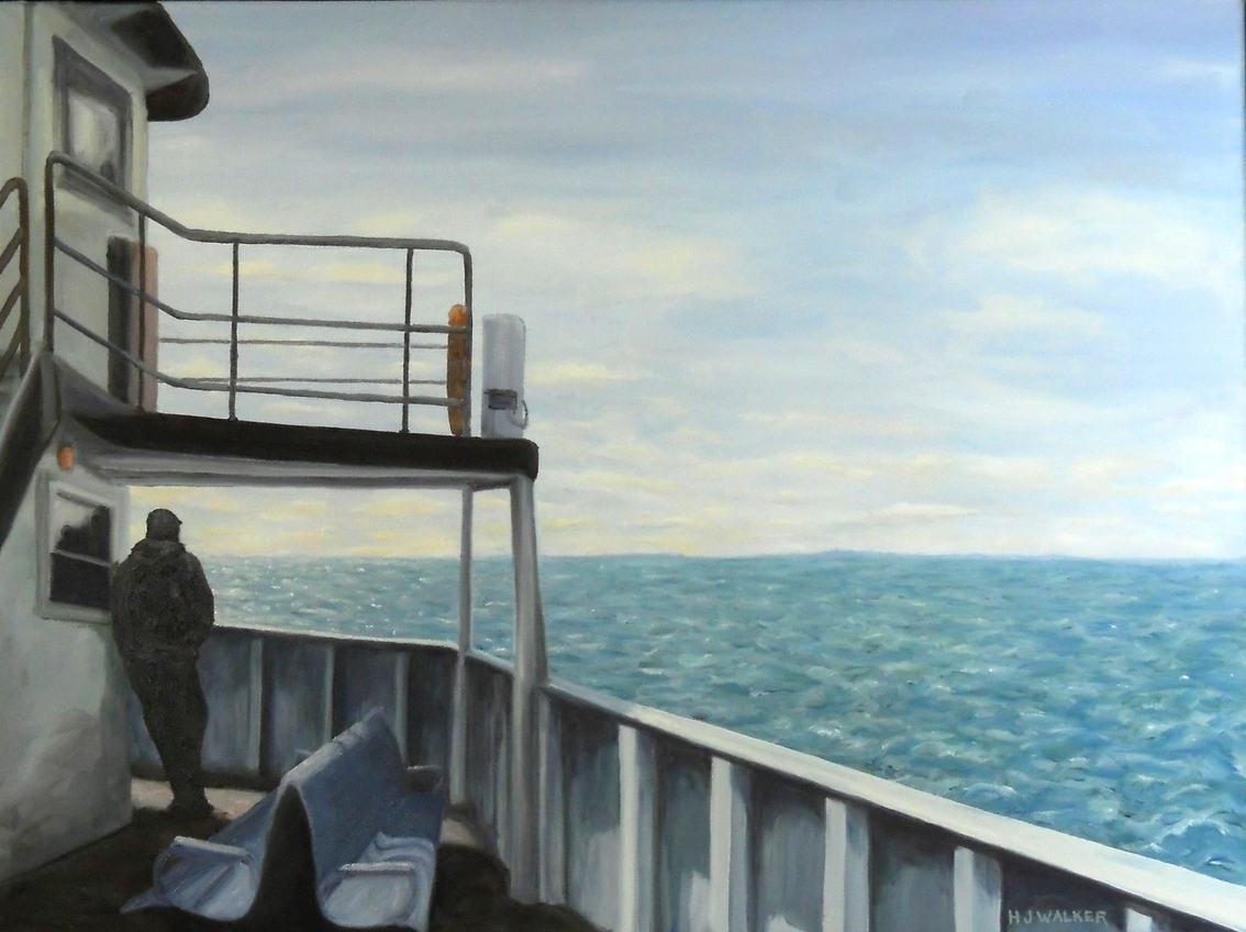 "ferry to Nantucket, 18x24""    NFS"