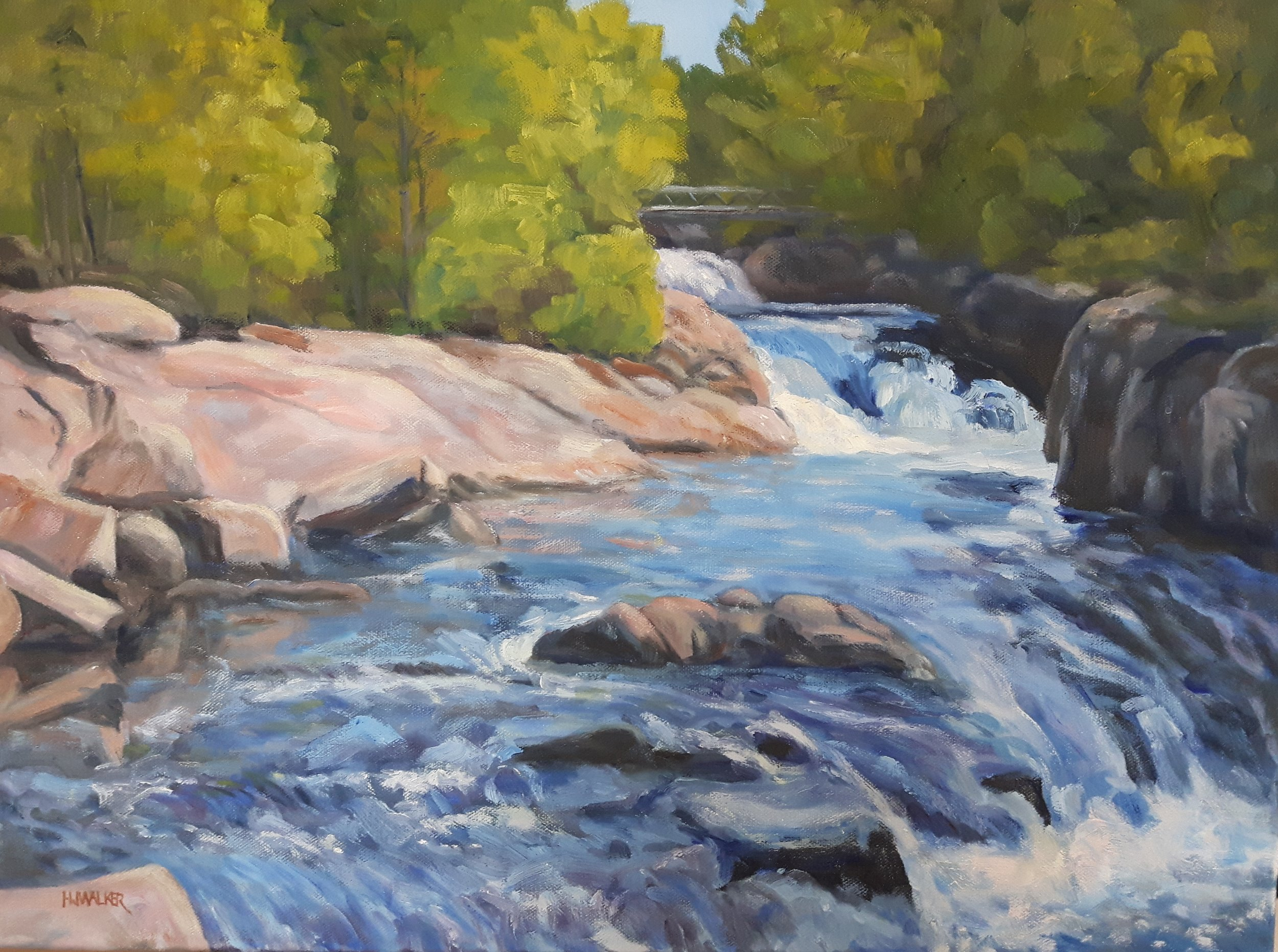 Ritchie Falls 20x30  Plein air     SOLD