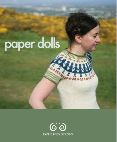 This is not an ugly Christmas sweater. This is Paper Dolls sweater pattern (c) Kate Davies