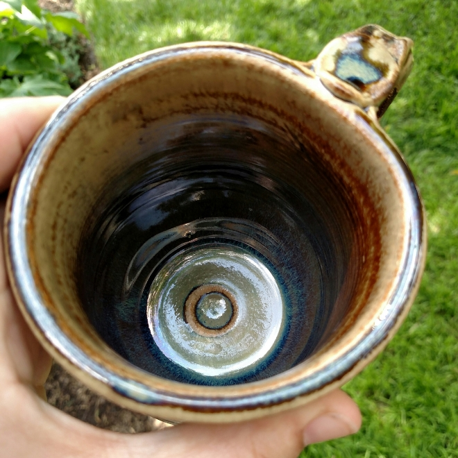 inside the seaweed mug.  Can't quite see the true blue pool in the bottom.