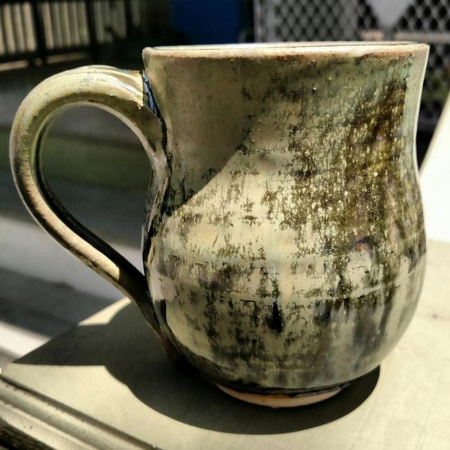 frosty green mug