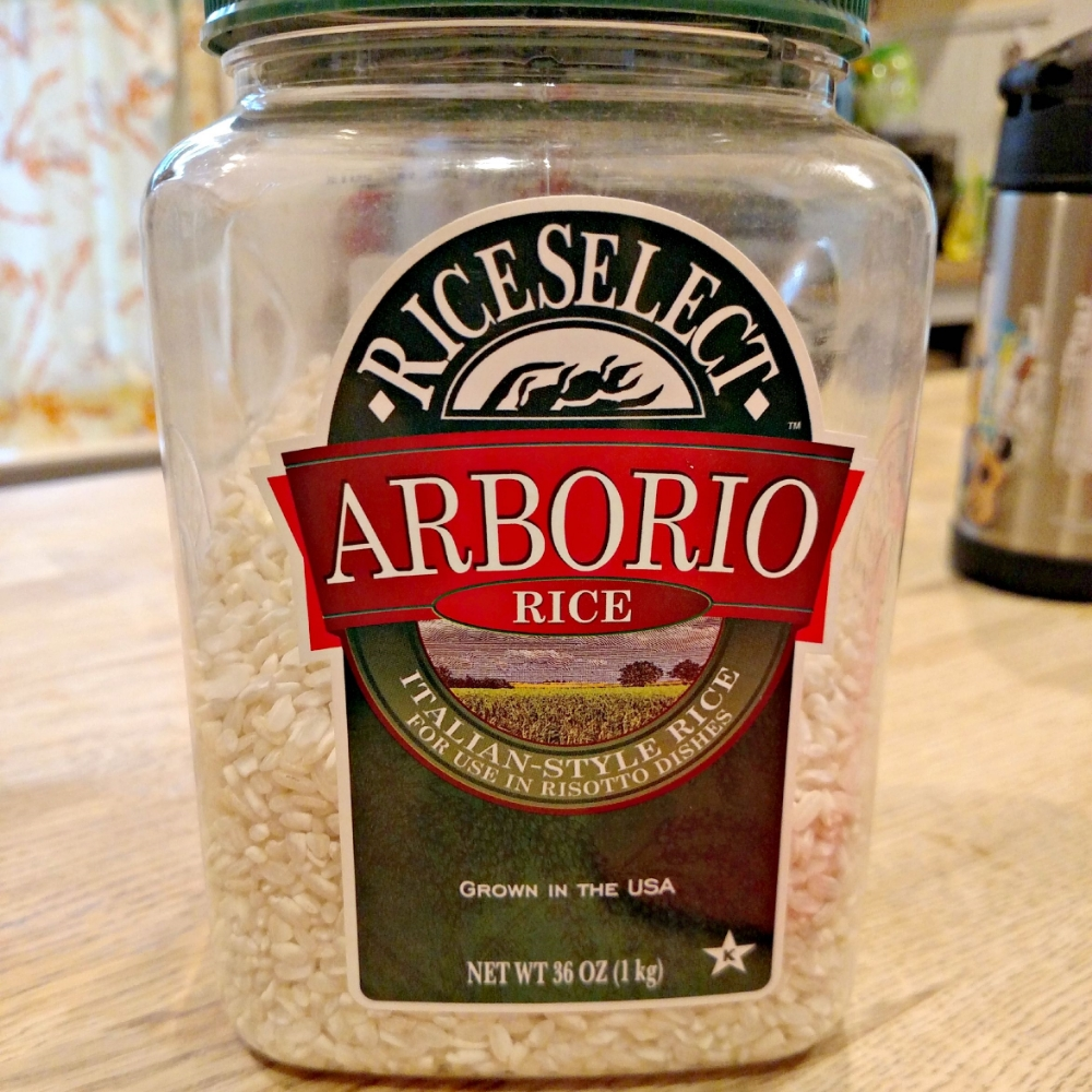 supermarket arborio rice. cause we fancy.