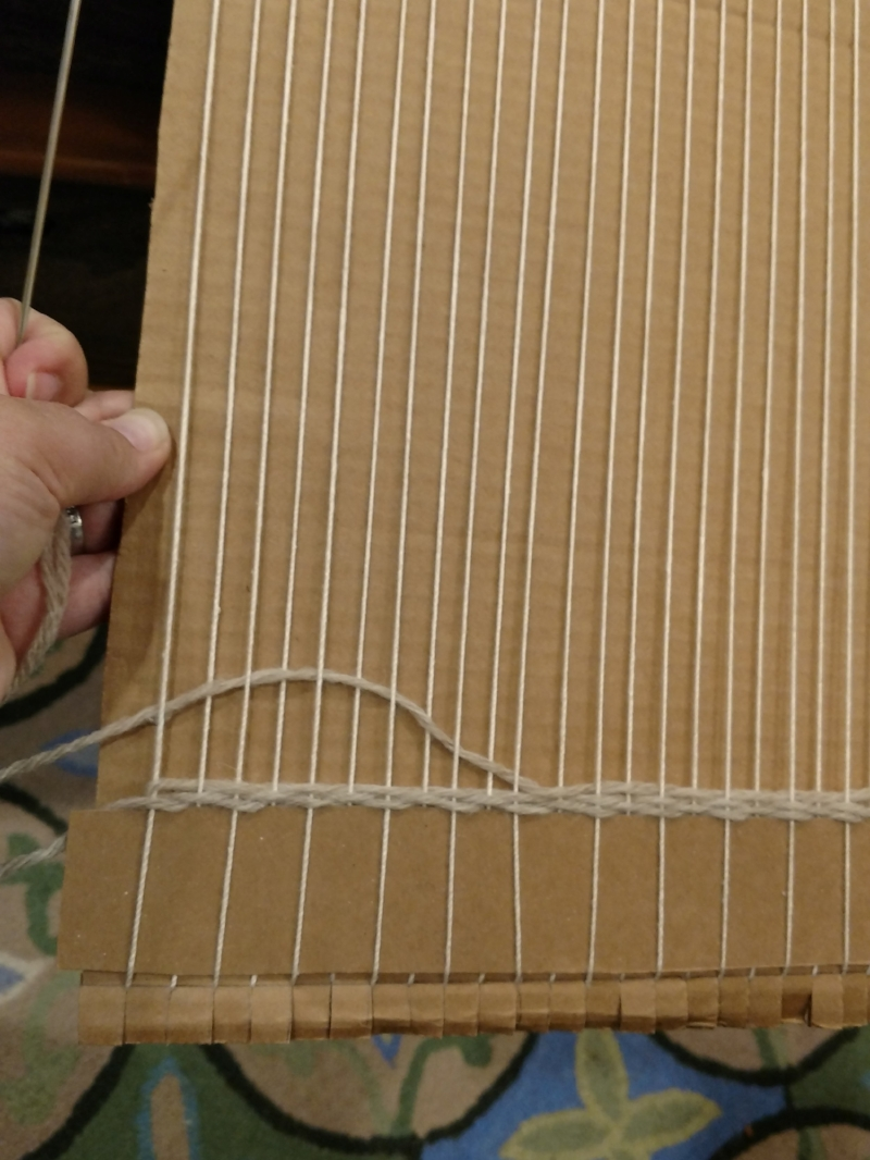 over, under, over, under . . . note the rounded shape of the weft