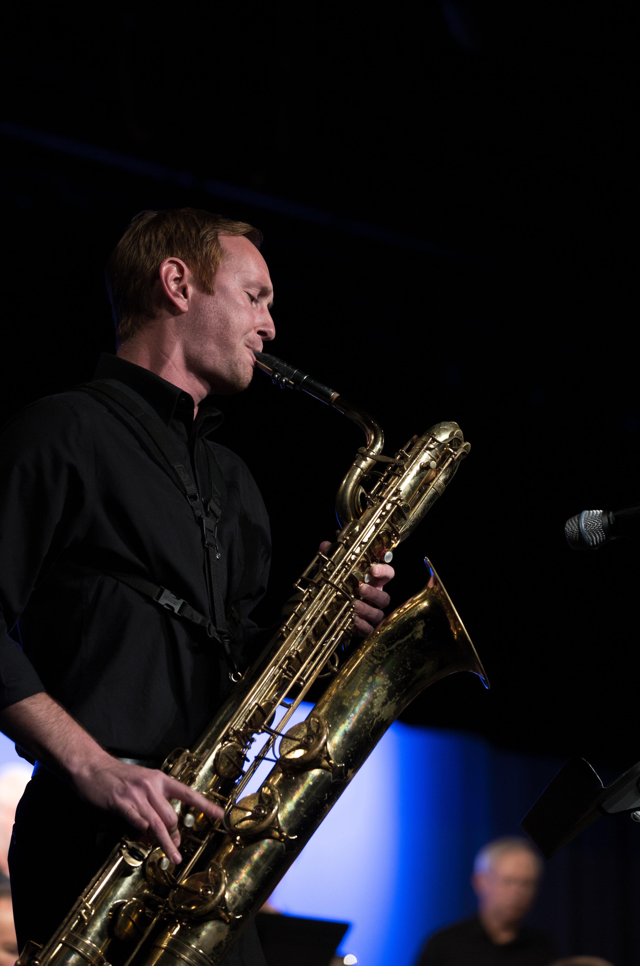 Matt Ballard, baritone sax